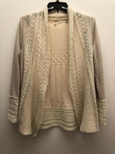 ANTHRO Knitted & Knotted Knit Open Cardigan Mohair